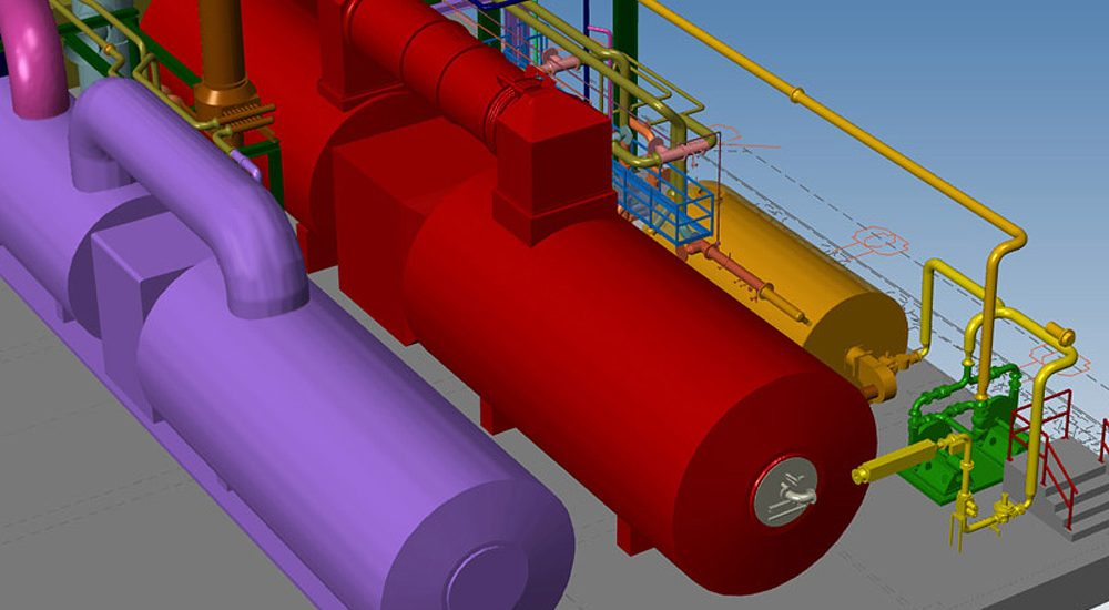 Logiciel de conception industrielle avec tuyauterie 3D
