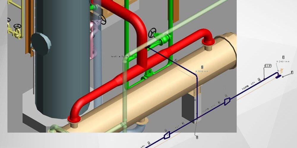 Création automatique d'isométriques de tuyauteries