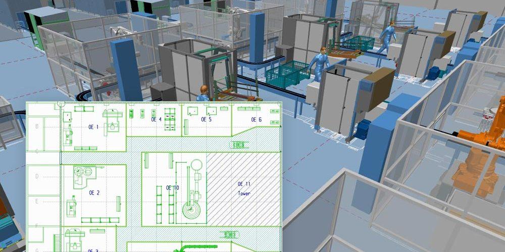 Concevoir une usine en 2D et obtenir automatiquement une présentation 3D
