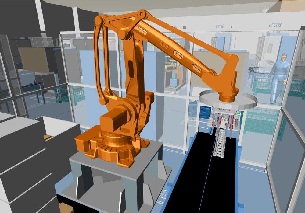 Installazione di un macchinario in 3D con MPDS4