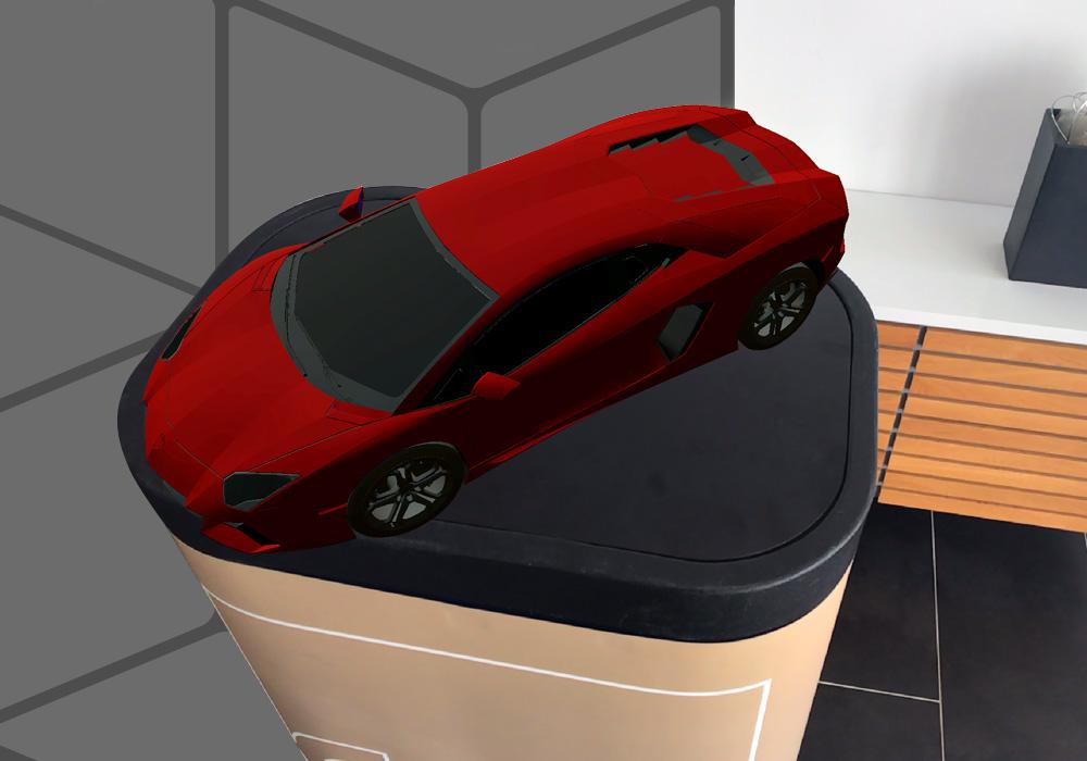 La nouvelle visionneuse RA i4 AUGMENTED REVIEW permet le fondu enchaîné des modèles 3D dans l'environnement réel