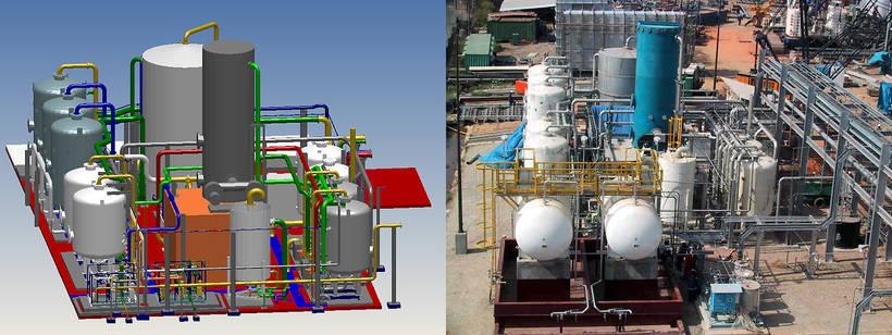 Usine de pré-traitement de l'eau avec dessalination à Trindad, et son modèle MPDS