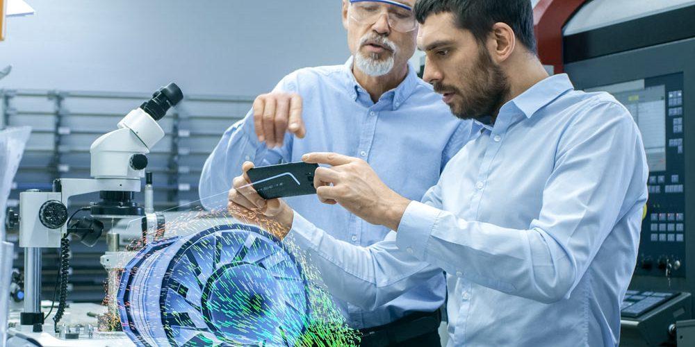 Modèles 3D sur le smartphone pour la vente
