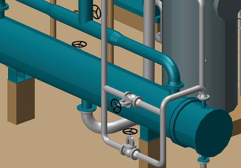 M4 PLANT permet d'effectuer rapidement des modifications dans la conception de tuyauteries 3D