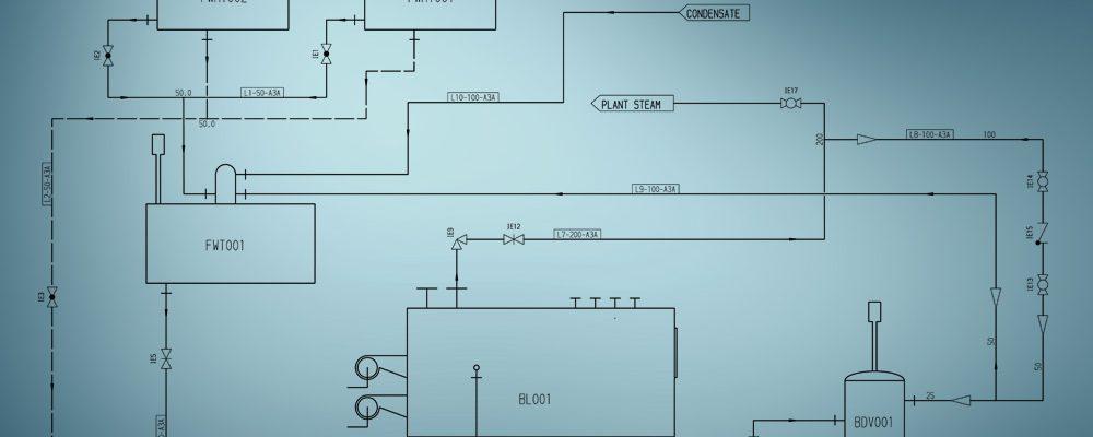 Un diagramme de flux est la base de la planification des réseaux de tuyauterie