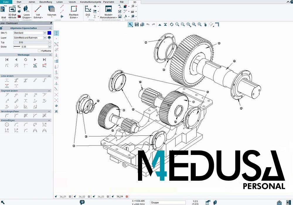 MEDUSA4 Personal est un logiciel CAO qui peut être utilisé par les artisans à un prix abordable