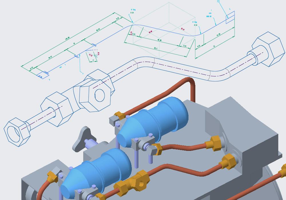 Créer des isométries de tuyauterie directement à partir de Creo Piping
