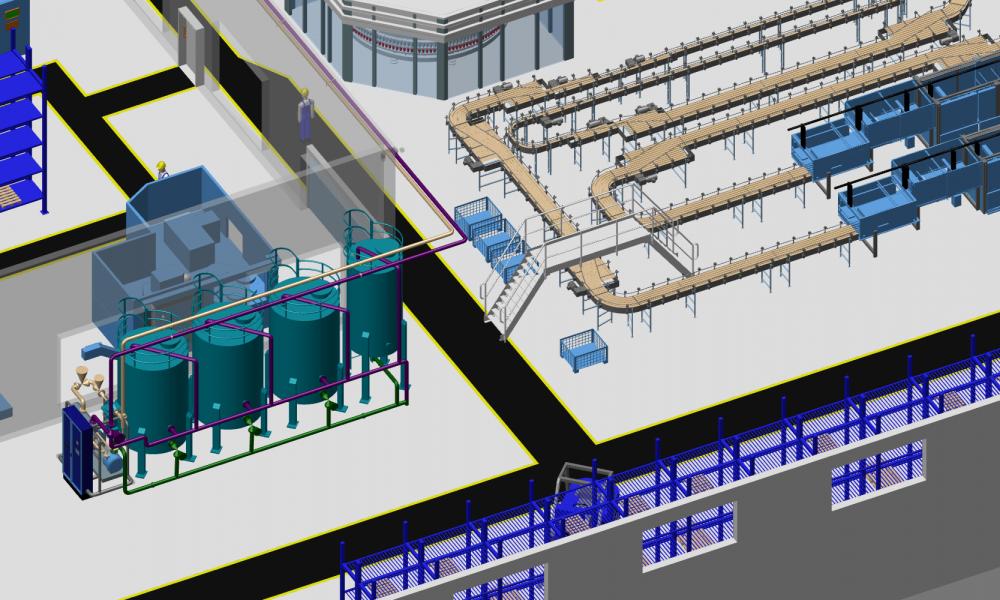 Fabrikplanung Software 3D-Planung