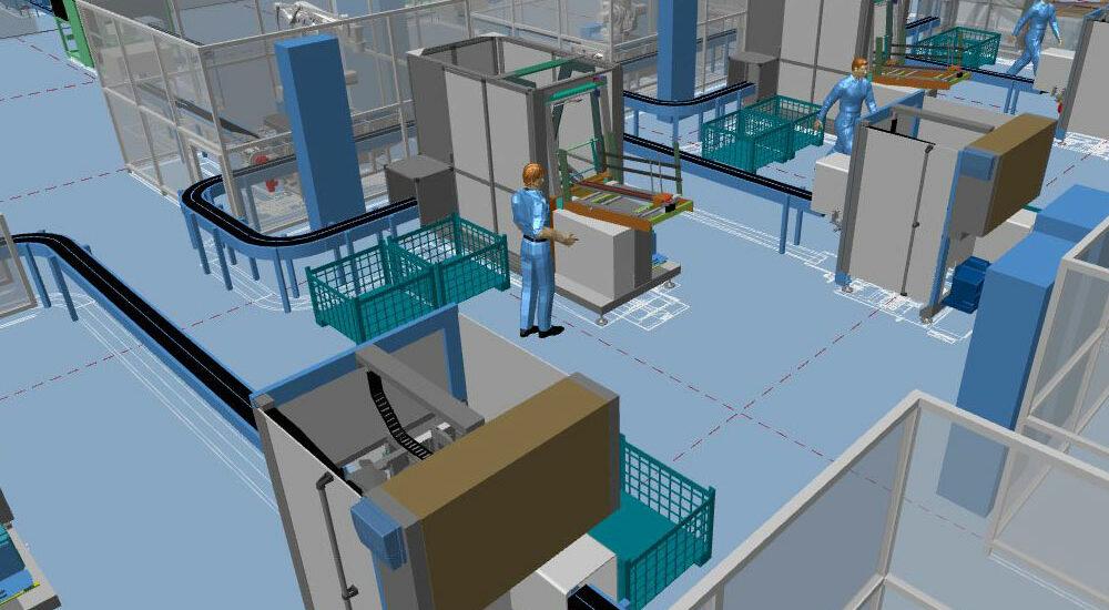 Planification d'usine moderne grâce à l'aménagement industriel 3D
