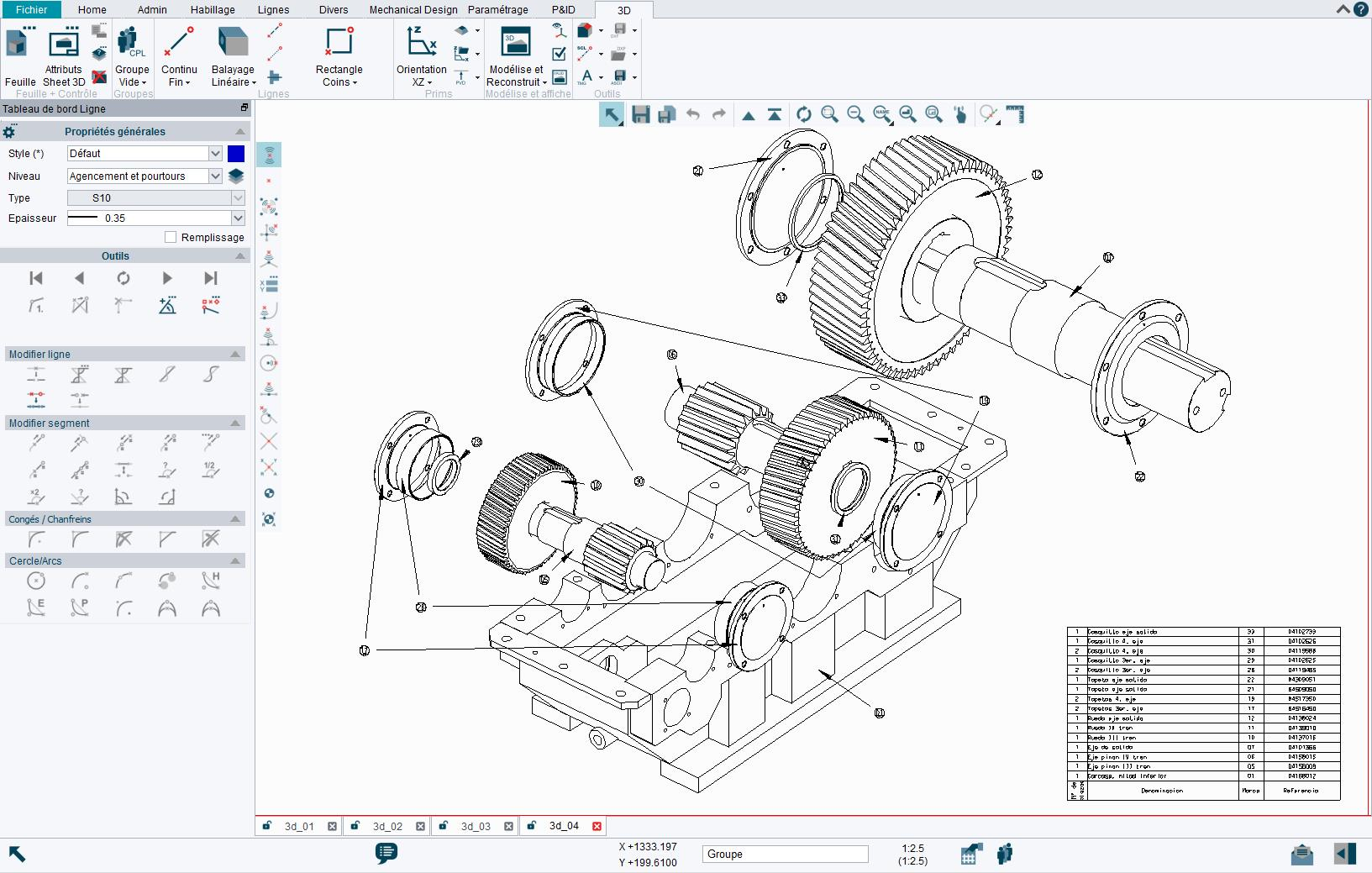 Dans 3D, les modèles 3D peuvent être réalisés rapidement et facilement directement à partir de différentes vues 2D.