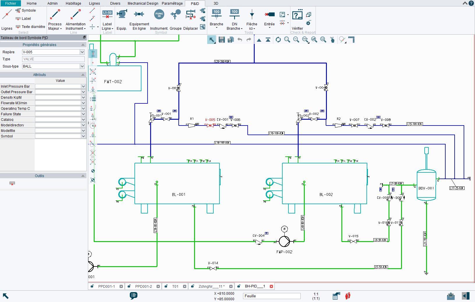 Logiciel P&ID pour la création de diagrammes intelligents