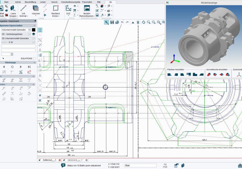 M4 PERSONAL ist das kostenlose leistungsstarke 2D 3D CAD Paket